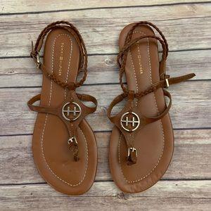 Tommy Hilfiger Brown Sandals
